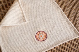 Facial embroided towel
